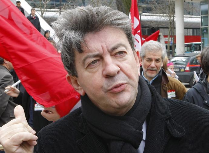 Jean-Luc Mélenchon à l'usine Arkema de St Fons