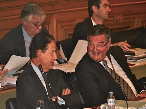 Thierry Mouillac accompagné par Chrystelle Madeleine (candidate Lyon Divers Droite sur le canton de Lyon III)