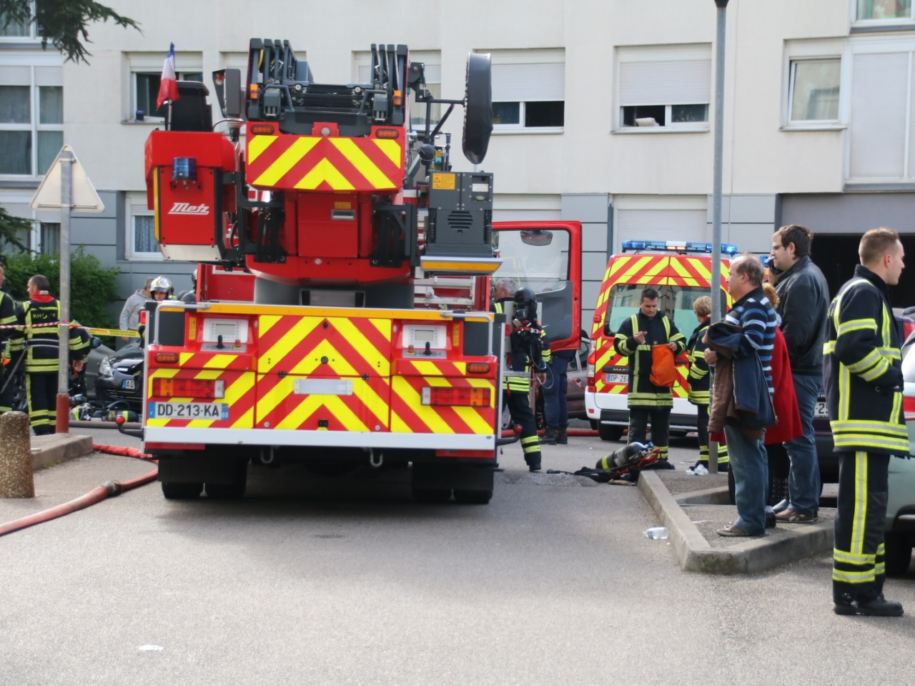 Le feu s'est déclaré rue Pierre Baratin - LyonMag