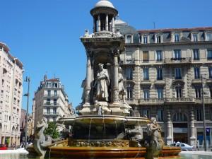 Lyon : la fontaine des Jacobins de nouveau visible