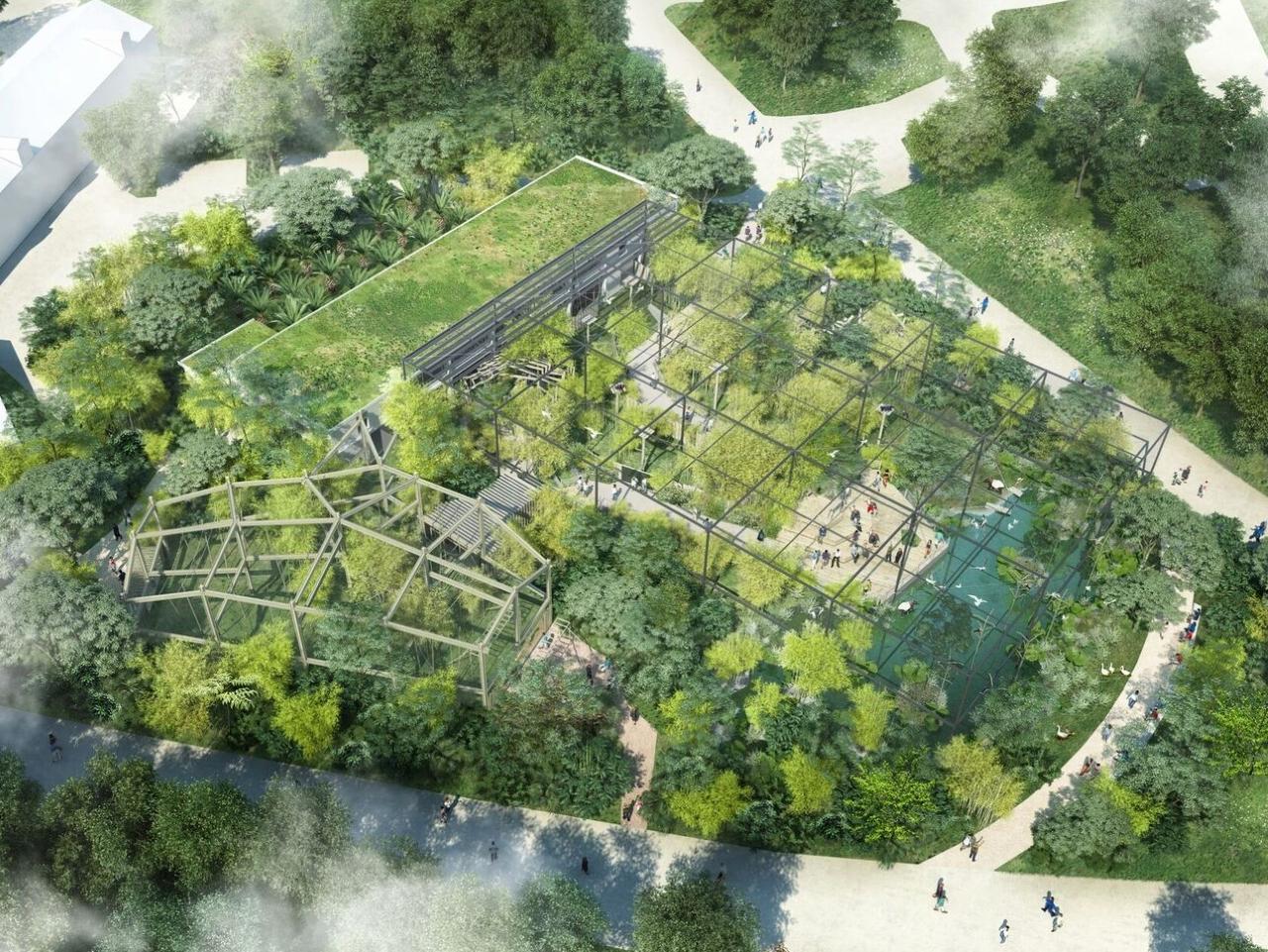 Simulation de la vue aérienne de la Forêt d'Asie - DR Ville de Lyon