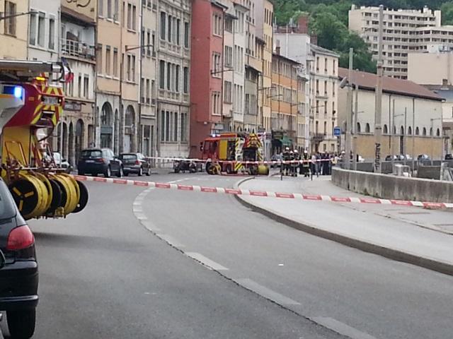 Lyon : une fuite de gaz quai Pierre Scize