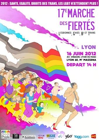 L'affiche de la Gay Pride 2012 de Lyon - DR