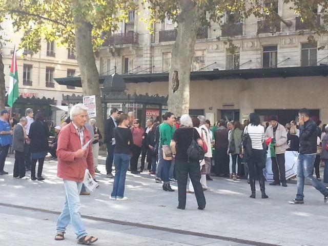 Lyon : le rassemblement pour Gaza a peu mobilisé samedi après-midi