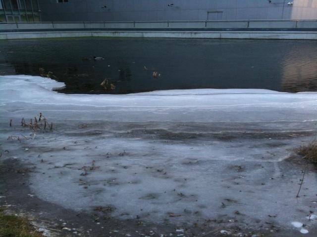 La prudence est de mise aux abords des eaux gelées