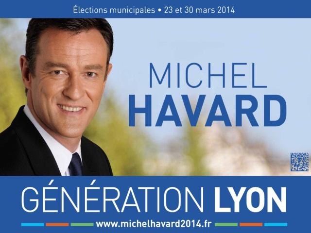Municipales à Lyon : Michel Havard dévoile son affiche de campagne