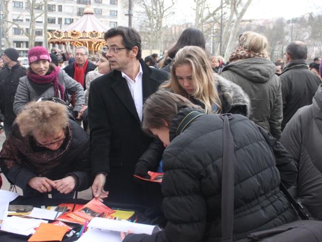 Emmanuel Hamelin au rassemblement du parc de la Tête d'Or -  LyonMag.com