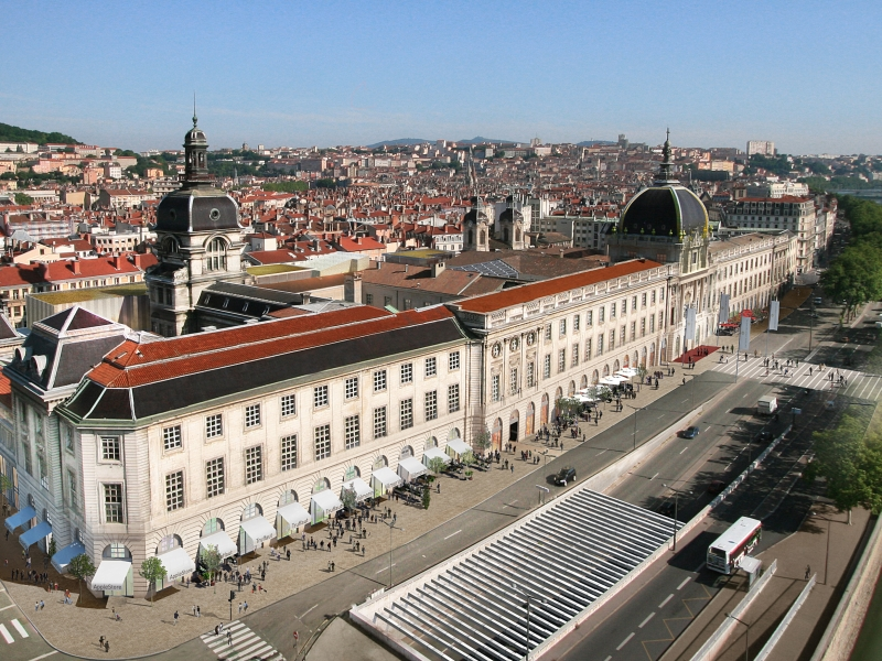 Lyon : l'Hôtel-Dieu a entamé sa reconversion - Photos