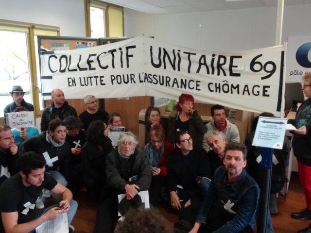 Lyon : le collectif unitaire 69 investit un Pôle Emploi