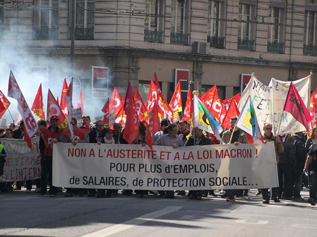 Manifestation contre l'austérité : 4200 personnes dans les rues de Lyon