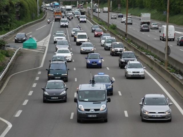 Lyon : circulation difficile suite à l'opération escargot des Pendus 69
