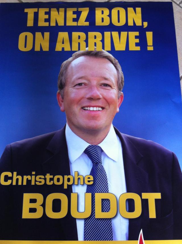 La première affiche de campagne de Christophe Boudot - DR