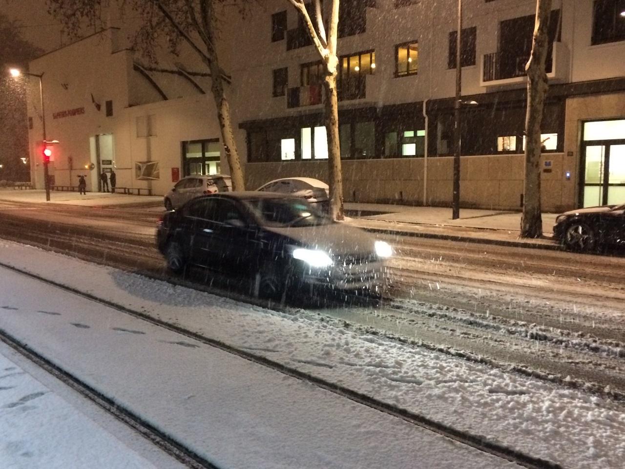 Lyon sous la neige ce matin - LyonMag