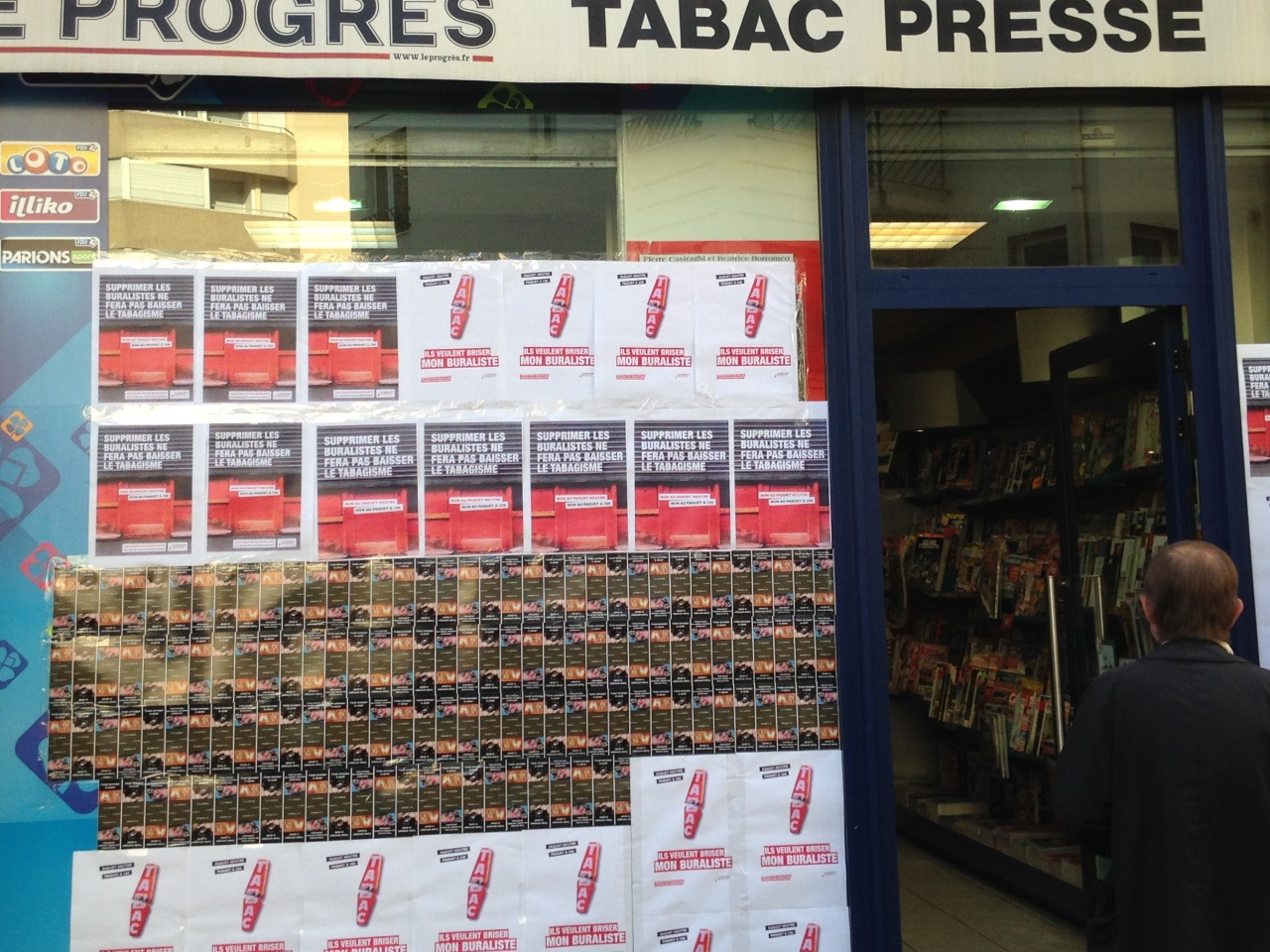 Le bureau tabac de la rue de la Madeleine ce mardi matin - LyonMag
