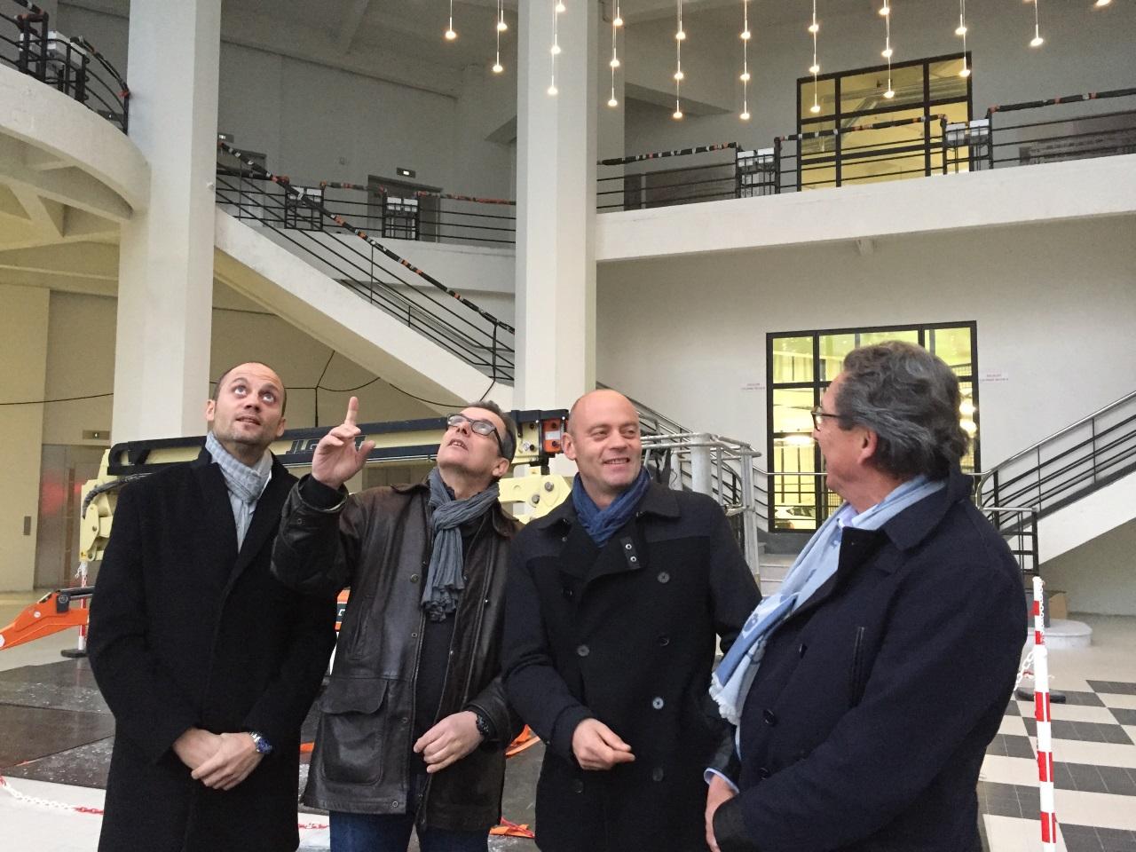 Nicolas Gagneux, Jean-Pierre Gagneux et les architectes Philippe Allart et Yannick Pascal - LyonMag