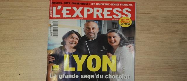 Les chocolatiers lyonnais en Une de l'Express