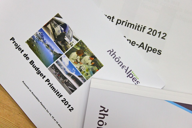 Rhône-Alpes adopte son budget 2012