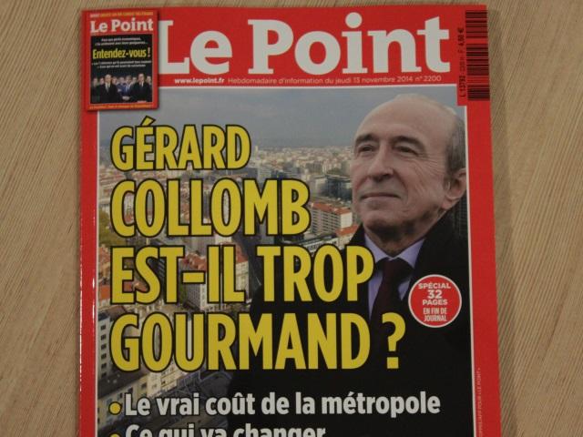 """Le Point se penche sur la Métropole de Lyon : Collomb """"trop gourmand"""" ?"""