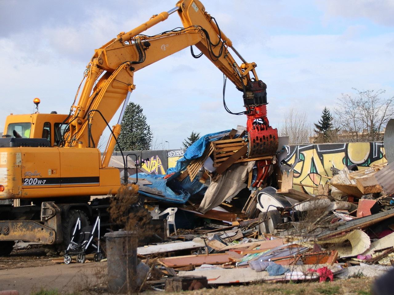 La destruction a débuté peu avant 12h - LyonMag
