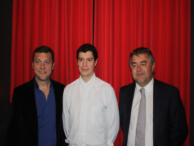 Jean-Christophe Larose avec Frédéric Berthod et Julien Ducoté - LyonMag