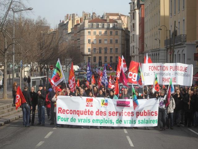 1650 fonctionnaires ont manifesté à Lyon