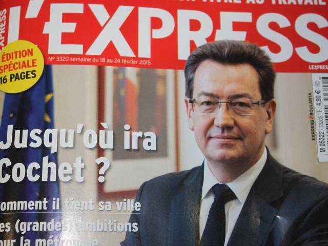"""""""L'ambitieux Philippe Cochet"""" en Une de l'Express Lyon ce mercredi"""
