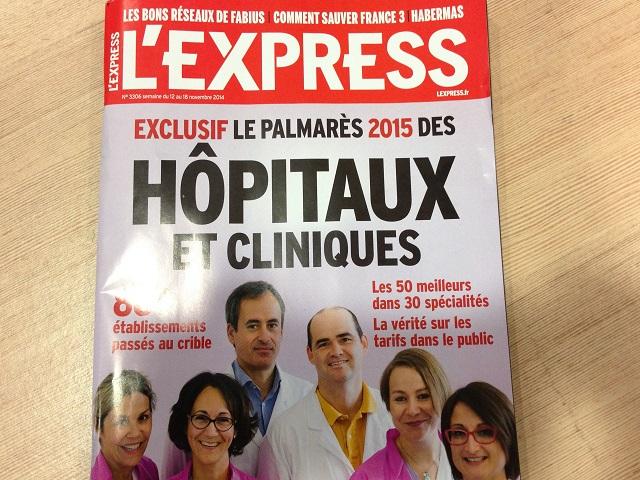Des hôpitaux lyonnais dans le palmarès 2015 de l'Express
