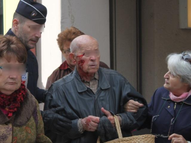 Les pompiers ont du intervenir pour prendre en charge cette victime collatérale du rassemblement - LyonMag