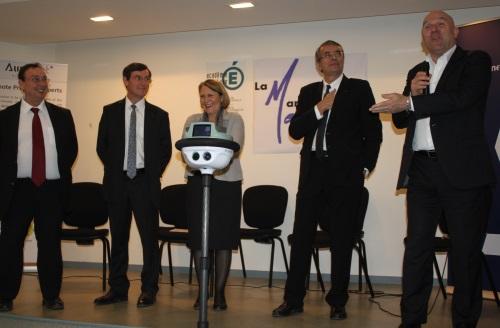 """Le premier """"robot lycéen"""" a été présenté à Lyon"""
