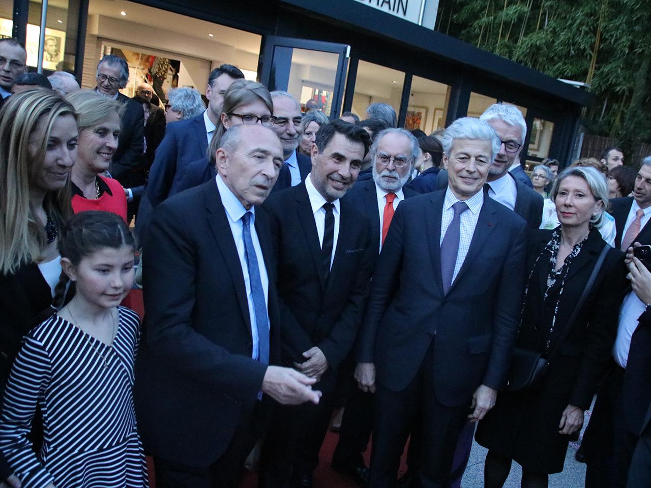 Charles Couty, entouré de Gérard Collomb et du préfet Comet - LyonMag