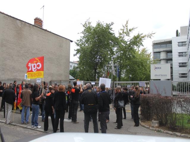 Les salariés de Merck se sont encore mobilisés en nombre jeudi