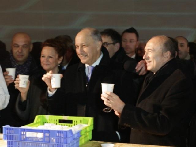 La délégation VIP menée par Laurent Fabius et Gérard Collomb - LyonMag