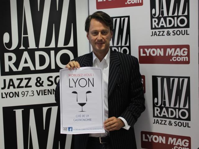 """Bertrand Gutty, un """"citoyen"""" qui milite pour la Cité de la Gastronomie à Lyon"""