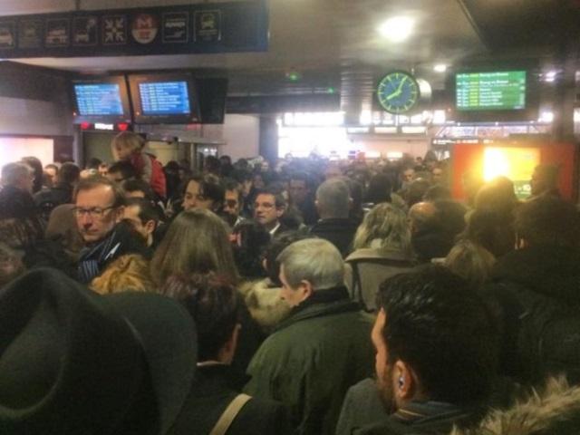 La gare de Perrache ce jeudi matin - LyonMag