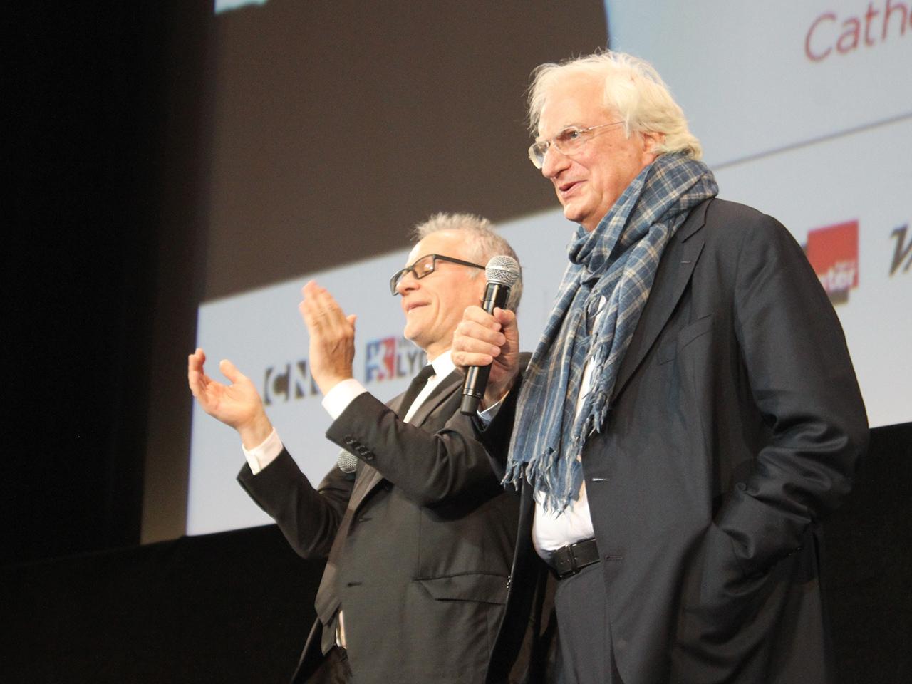 Bertrand Tavernier, ici avec Thierry Frémaux, de retour au Festival après son cancer - LyonMag