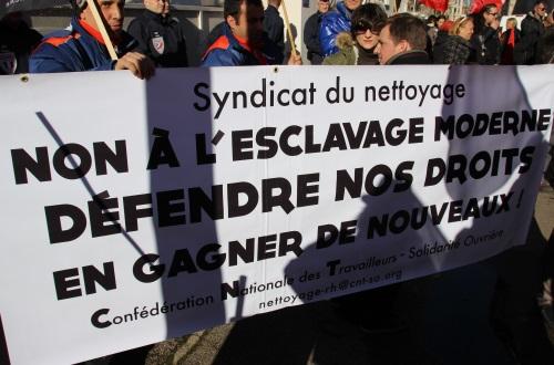 La Fédération Nationale des Ports et dock CGT manifeste