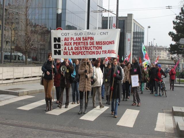 Les inspecteurs du travail manifestent à Lyon ce lundi