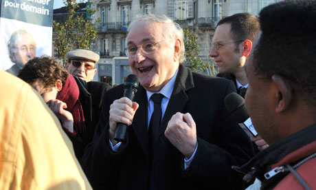 Jacques Cheminade en meeting dans la rue - Photo DR