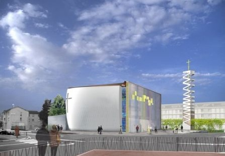 Etape importante dans le chantier de la nouvelle église de Vaulx-en-Velin