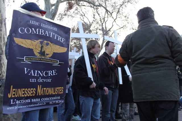 Mariage pour tous : les Jeunesses Nationalistes dénoncent l'arrestation de trois militants à Lyon