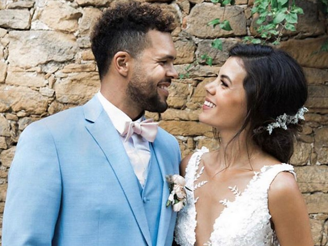 Jo-Wilfried Tsonga s'est marié dans le Beaujolais !