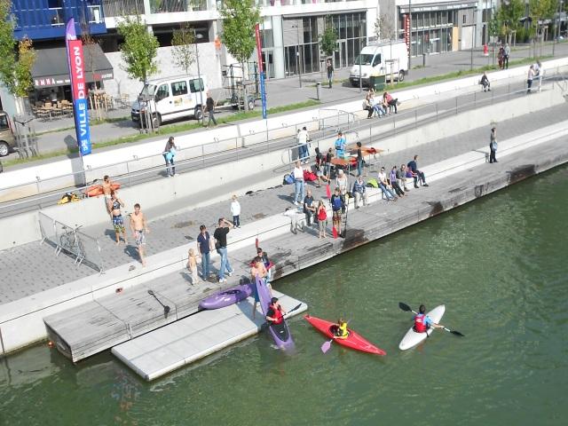 La Saône envahie de bateaux pour la Lyon Kayak