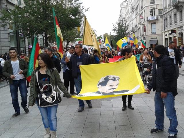 Lyon : une nouvelle manifestation de soutien aux Kurdes de Kobané réunit 250 personnes
