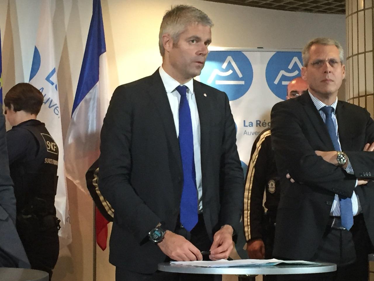 Laurent Wauquiez lors de l'annonce du plan de sécurisation des gares - Lyonmag.com