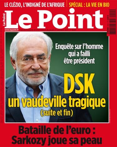 La Une du magazine Le Point du 27 octobre - Photo DR