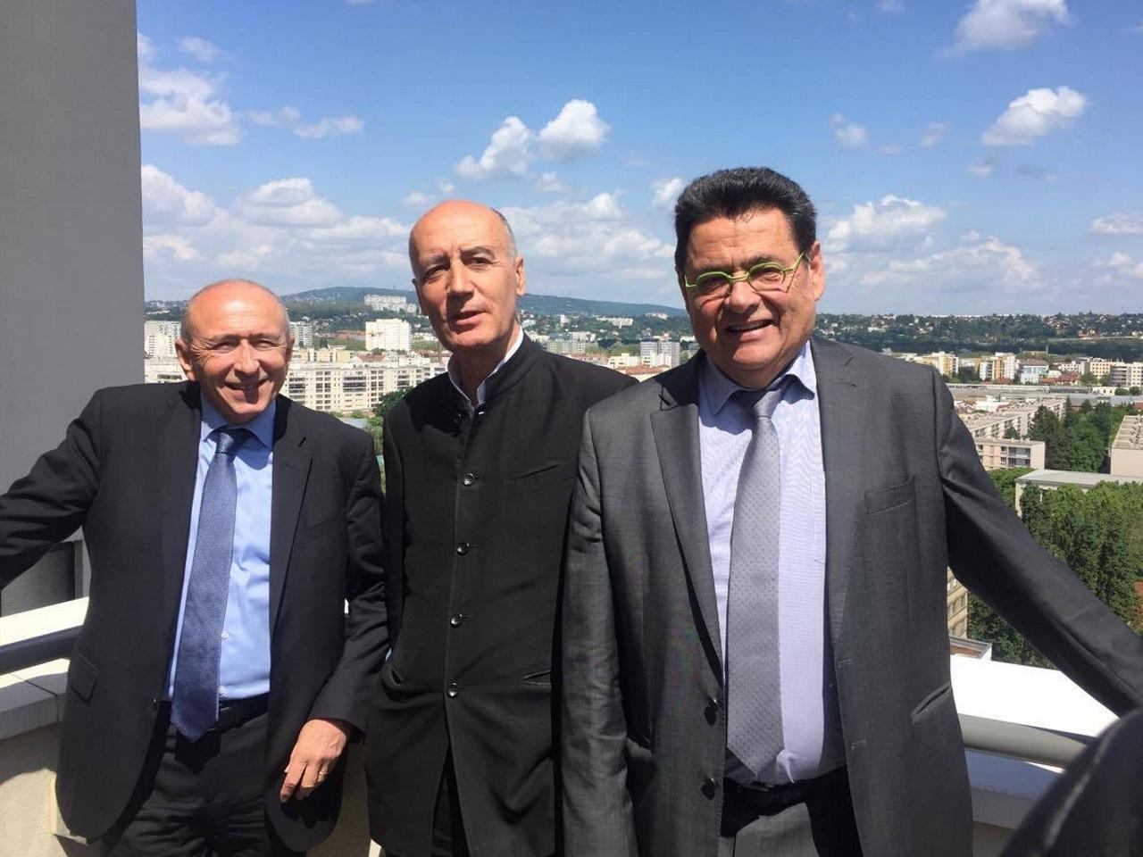 Gérard Collomb, Nicolas Michelin et Jean-Paul Bret - LyonMag