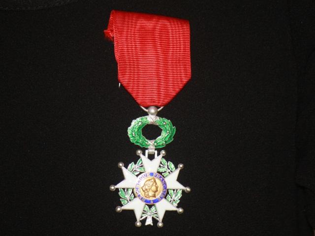Christophe Marguin, chevalier de la légion d'honneur