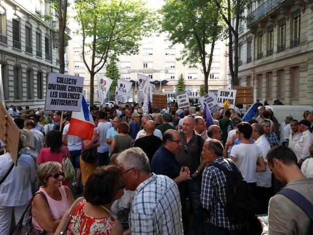 Lyon : 500 personnes au rassemblement contre les violences antisémites