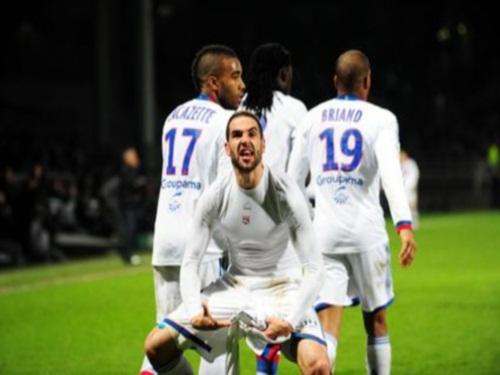 Lisandro après avoir marqué le but de la victoire face à Evian - DR