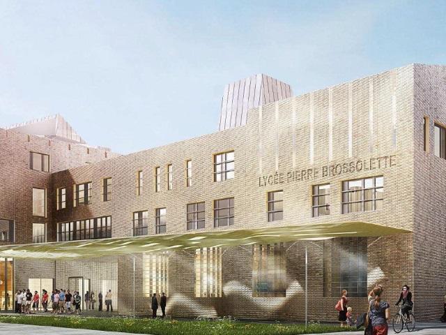 Villeurbanne : le lycée Brossolette reconstruit pour un nouveau centre-ville